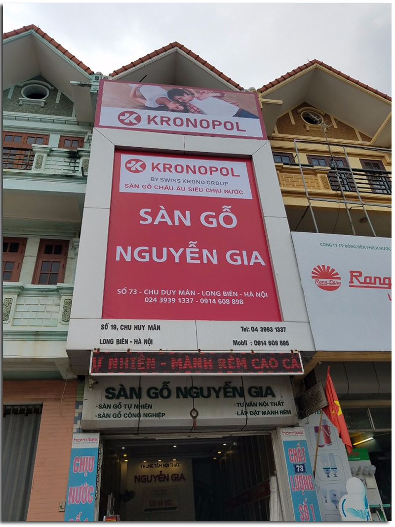 Đại lý sàn gỗ Kronopol tại Hà Nội